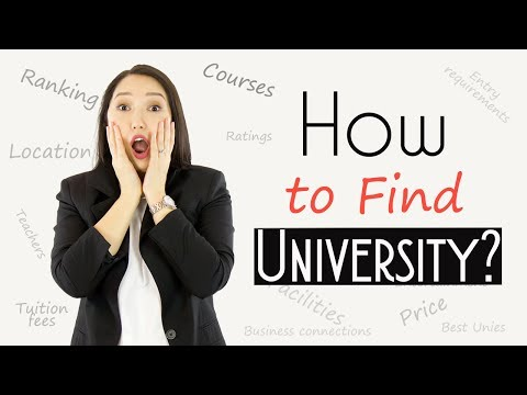 How to find a university in the UK (awesome UK university filter)
