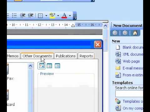 Microsoft Office Word 2003 Create an agenda