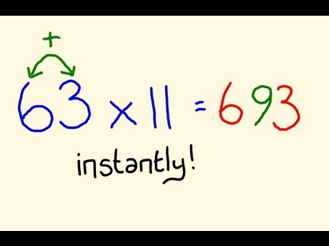 Times table Trick (Elevens) - Fast Mental Multiplication Math Trick