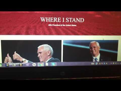 Pence's Hacked Website