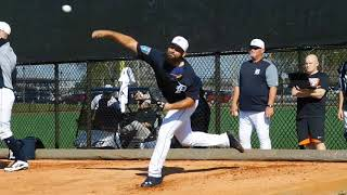 Chris Bosio offers advice as Michael Fulmer throws in pen