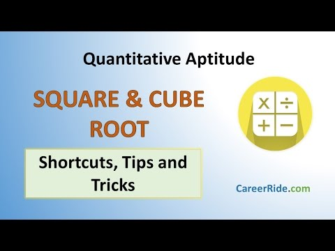 Square & Cube Roots - Shortcuts & Tricks for Placement Tests, Job Interviews & Exams