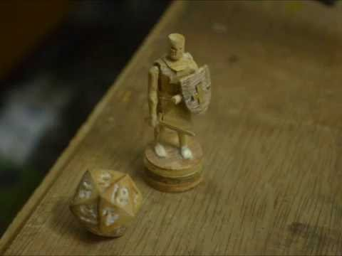 how to make D20 dice and a templar miniature  extended version