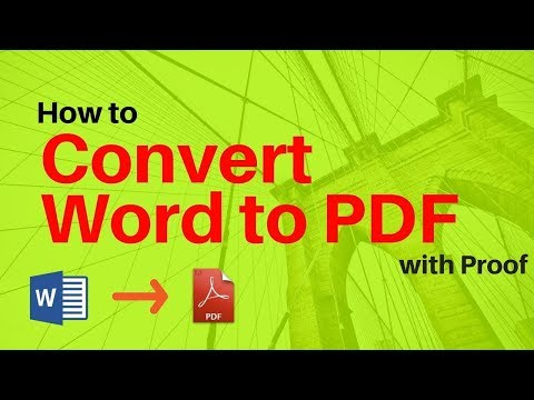 How to Convert Word to Pdf Offline
