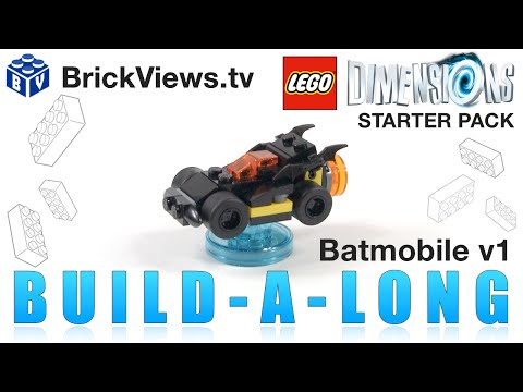 Build With Me Lego Dimensions Batmobile V1 How To Build Batmobile