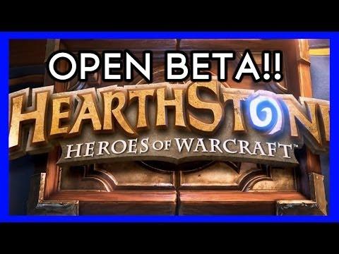 HEARTHSTONE OPEN BETA NOAW!!