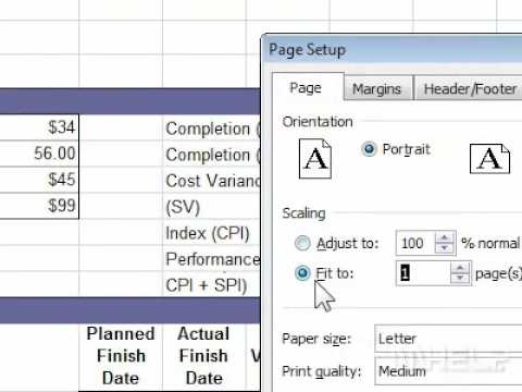 How to print a worksheet to fit a paper width in Excel