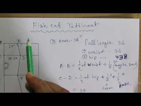 How to Make Fish Cut Petticoat Drafting and Pattern part 1 of 2