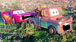 Disney Cars 3 Lightning McQueen Gets HUGE Surprise! Tow Mater Flat Tire Rescue Toys Movie for Kids
