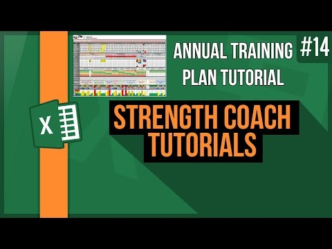 How to design a yearly training plan  - design an annual plan - Strength Coach Tutorials # 14