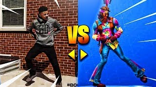 Download ALL *NEW* FORTNITE DANCES/EMOTES IN REAL LIFE! [UPDATED]