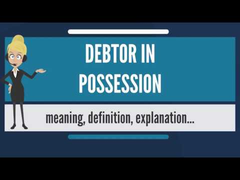 What is DEBTOR IN POSSESSION? What does DEBTOR IN POSSESSION mean? DEBTOR IN POSSESSION meaning