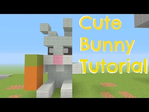 Minecraft - Cute Bunny Tutorial (Simple and easy)