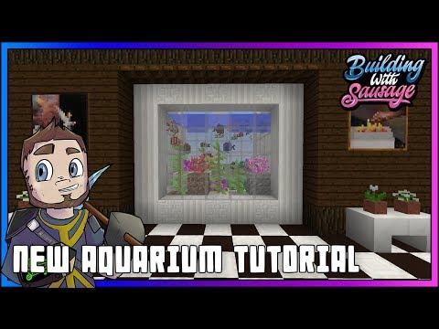 Minecraft - Building with Sausage - New Aquarium Tutorial [Minecraft 1.13 - Snapshot 18w10a]