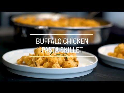 Buffalo Chicken Pasta Skillet