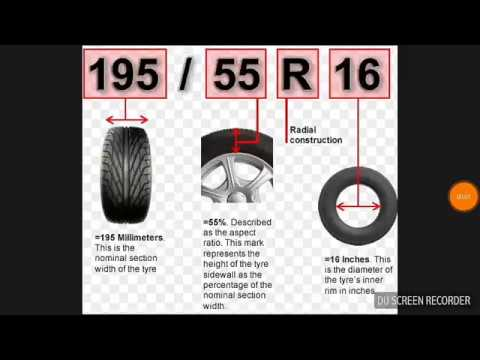 HOW TO READ YOUR TYRE SIZE ?