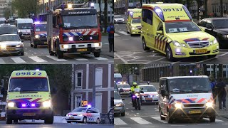 Dutch emergency vehicles with lights and sirens [Code 3]