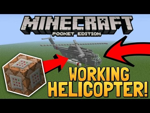 Working Helicopter with Command Blocks in MCPE - Command Block Creation | Minecraft Pocket Edition