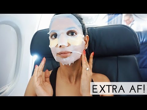 The most Extra IN-FLIGHT Skincare Routine