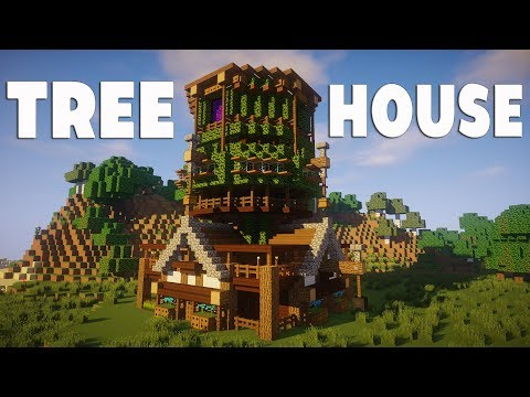 Minecraft: How To Build A Tree House Tutorial (Easy Wooden House)