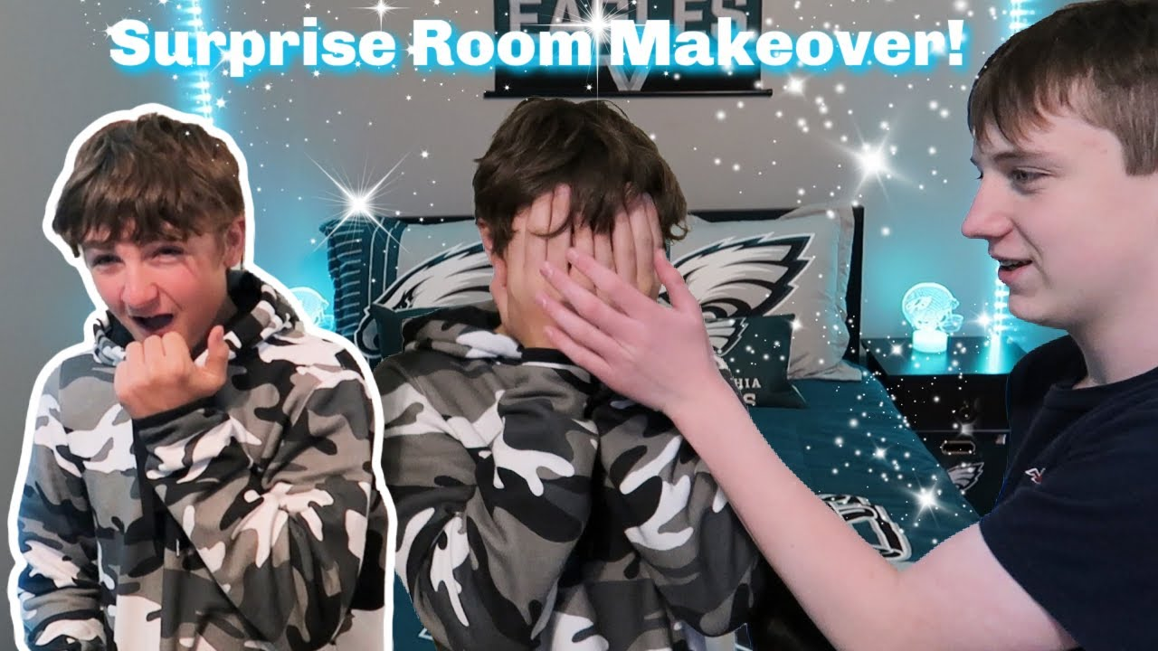 SURPRISE ROOM MAKEOVER FOR TEENS! | BEDROOM TOUR