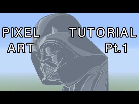 Minecraft Pixel Art Tutorial - Darth Vader (Star Wars) Part 1