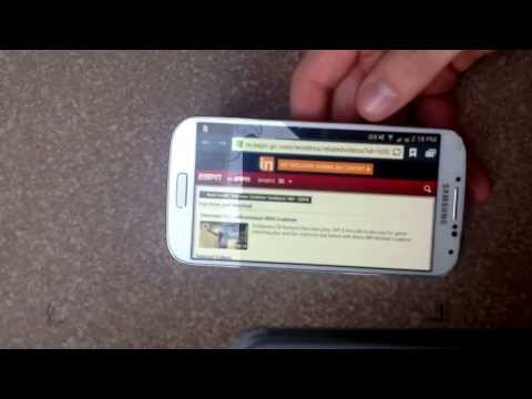 How to turn the screen rotation on / off samsung galaxy s4