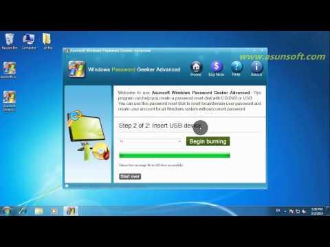 Windows 7 Administrator Password Reset