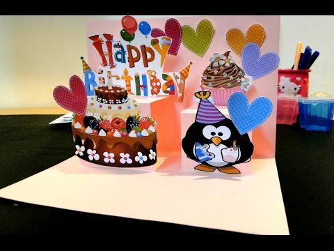 Pop Up Card Happy Birthday DIY