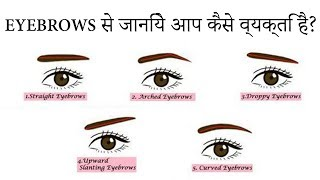 Eyebrows से जानिये आप कैसे व्यक्ति है?😒 Learn Face reading - Eyebrows  Physiognomy   with subtitles