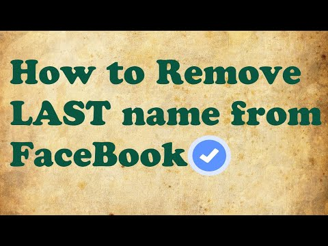 How to remove last name from