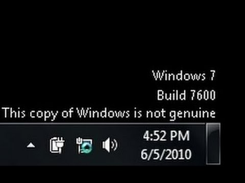 How To Fix This Copy Of Windows is Not Genuine Windows 7 Build 7600 - 7601 fix Desktop Computer