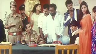 Police Inspector Comedy | Minsara Kanna Tamil Movie | Vijay | Rambha | Kushboo | Manobala
