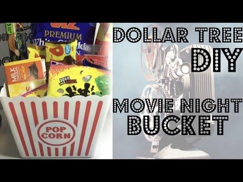 Dollar Tree | DIY | Movie Night Bucket