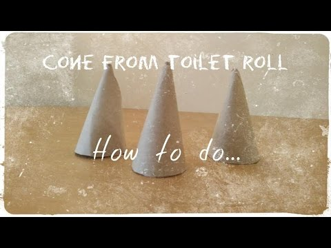 How to make   Cone from toilet roll