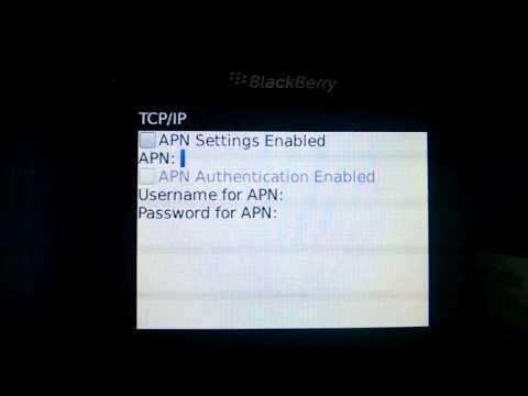 Cek APN  di Blackberry OS 5