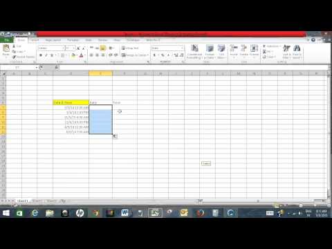 Split date and time in Excel