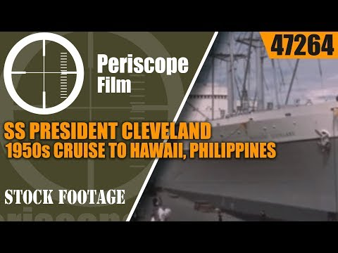 SS PRESIDENT CLEVELAND 1950s CRUISE TO HAWAII, PHILIPPINES, HONG KONG & JAPAN  47264