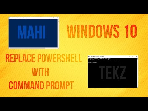 Windows 10 how to Replace Powershell with Command Prompt