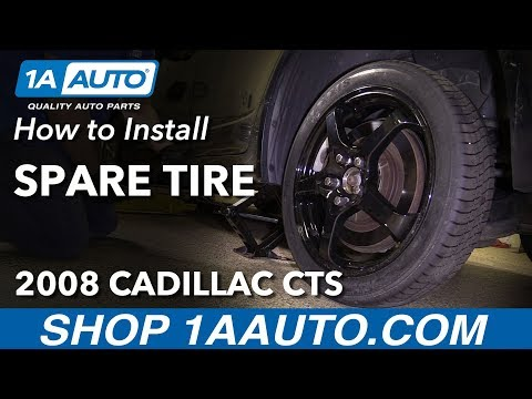 How to Install Spare Tire 2008 Cadillac CTS