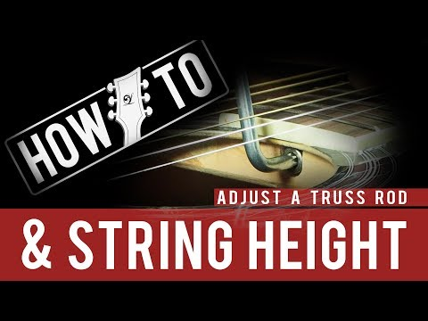 How To Setup An Acoustic Guitar and Reduce String Height with Lindo Guitars