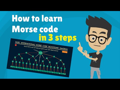 MORSE CODE - How to Learn Morse Code Alphabet in 3 steps - Tutorial