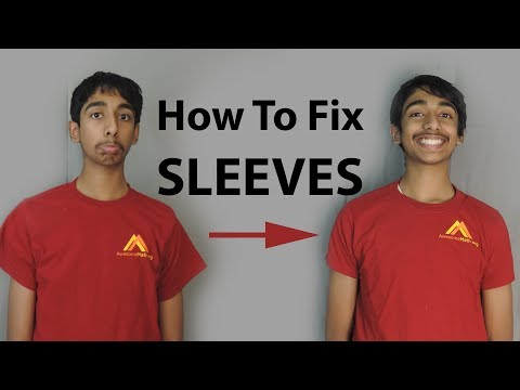 How to Tighten Men's T-Shirt Sleeves | Step-By-Step DIY Sewing Tutorial