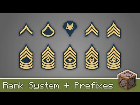 Rank System + Prefixes | Vanilla Minecraft [English]