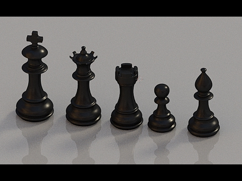 Blender: Modeling Chess Pieces