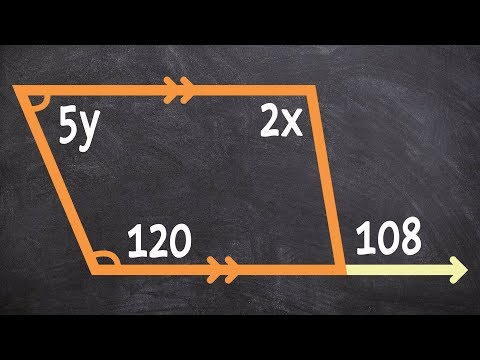 Finding the value of x using a trapezoid alternate interior angles and supplementary