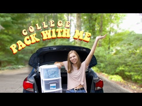 Pack With Me: College Move-In!