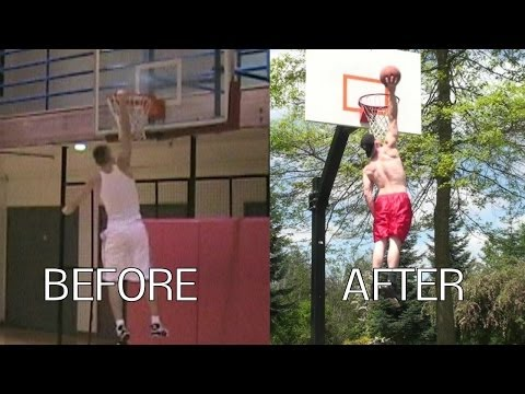 How To Increase Vertical Jump (Learn How To Increase Vertical Jump) - 12 Week Dunk Progress