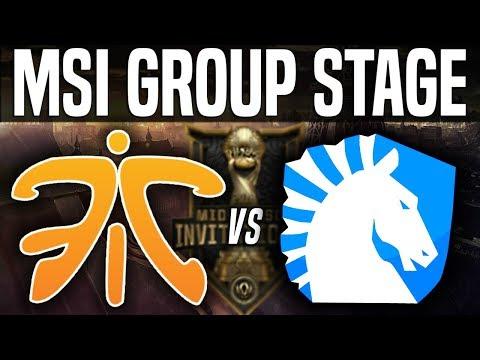 FNC vs TL (EU vs NA) MSI 2018 Group Stage Day 2 - Fnatic vs Team Liquid | League Of Legends MSI 2018