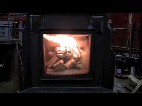 Absolute Steel Hybrid (Pre-Production stove): Top Down Fire